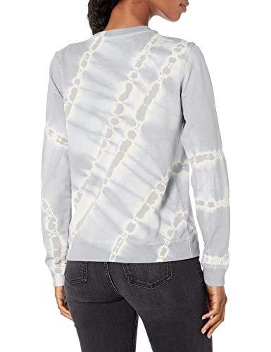 Lucky Brand Women's Long Sleeve Crew Neck Tie Dye Pullover Sweatshirt, Grey Multi, L image https://images.buyr.com/-H-Ju-6KO-gWYlFT98C7dA.jpg1