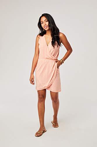 CARVE Designs Women's Kendall Dress, Guava Textured Stripe, LG image 1