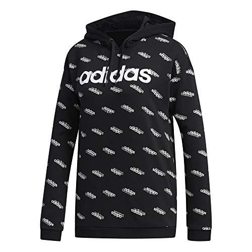 adidas Women's Favorites Hooded Sweatshirt Black/White XX-Small image https://images.buyr.com/17g7avzraI9s4qcq6IOMjQ.jpg1