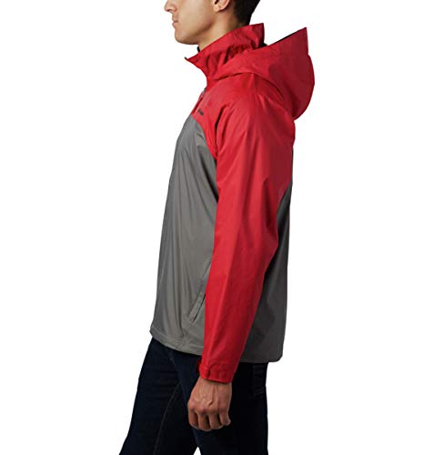Columbia Men's Big-Tall Glennaker Lake Lined Rain Jacket, Waterproof & Breathable Outerwear, -City Grey/mountain Red, LT image https://images.buyr.com/1d07m59ZLE708iON_6bydA.jpg1