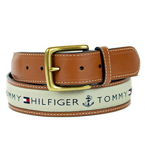 Tommy Hilfiger Men's Ribbon Inlay Belt - Ribbon Fabric Design with Single Prong Buckle, Khaki, 56 image https://images.buyr.com/1tPRq3MMrMDtpXA7YtSNiw.jpg1