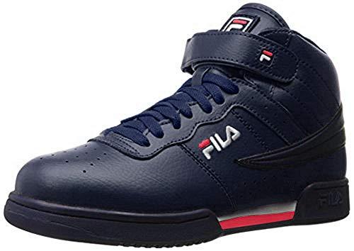 Fila Men's f-13v lea/syn Fashion Sneaker, Navy/White Red, 8.5 M US image 1