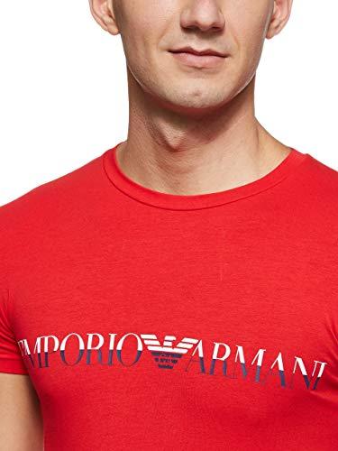 Emporio Armani Men's Megalogo Crew Neck T-Shirt, Red, X-Large image https://images.buyr.com/4s9DjY8zgbunQI6T0cNpzQ.jpg1