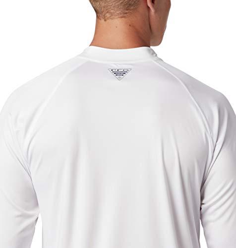 Columbia Men's Terminal Tackle 1/4 Zip, White/Bright Aqua Logo, XX-Large image https://images.buyr.com/5_kKoQP4qhGlzcX5mWnvXQ.jpg1