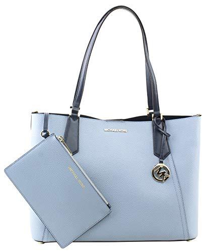 Michael Kors Kimberly Grab Bag Pale Blue Navy image 1