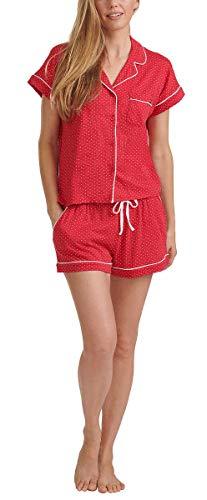 Tommy Hilfiger Womens 2 Piece Pajama Shorts Set (Classic Red Dot, Large) image 1
