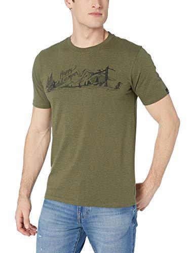 prAna Men's Trail ss T-Shirt, Cargo Green, Large image 1