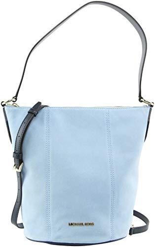Michael Kors Women's Brooke Medium Suede Shoulder Bag in Light Sky Multi, Style 35T0GOKM8S image 1