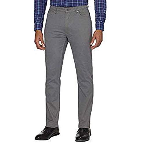 DKNY Men's Brushed Bedford Slim Straight Twill Pant (Smoked Pearl, 32W x 34L) image 1