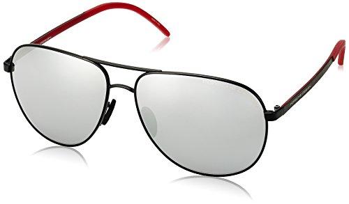 Porsche Design P8651 P/8651 A Black Pilot Sunglasses 63mm image 1