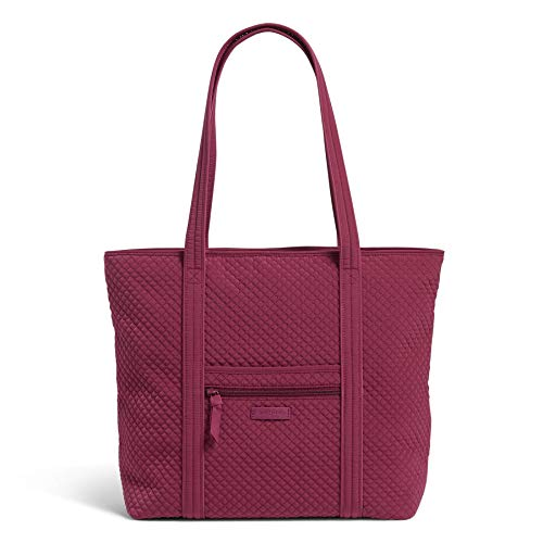 Vera Bradley Microfiber Vera Tote Bag, Raspberry Radiance image 1
