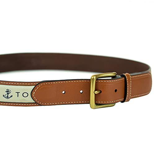 Tommy Hilfiger Men's Ribbon Inlay Belt - Ribbon Fabric Design with Single Prong Buckle, Khaki, 56 image https://images.buyr.com/C1DDmQEm1gQBJzVchYd_IQ.jpg1