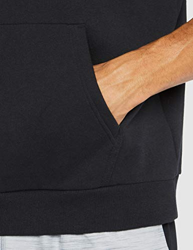 Under Armour Rival Fleece Logo Short-Sleeve Pullover Hoodie, Black (001)/White, Small image https://images.buyr.com/CM3N1J0hm2Xeu5xyEH1ERg.jpg1