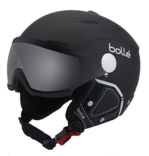 Bolle Backline Visor Premium with 1 Photochromic Silver Visor Ski Helmet, Soft Black/White, 56-58cm image 1