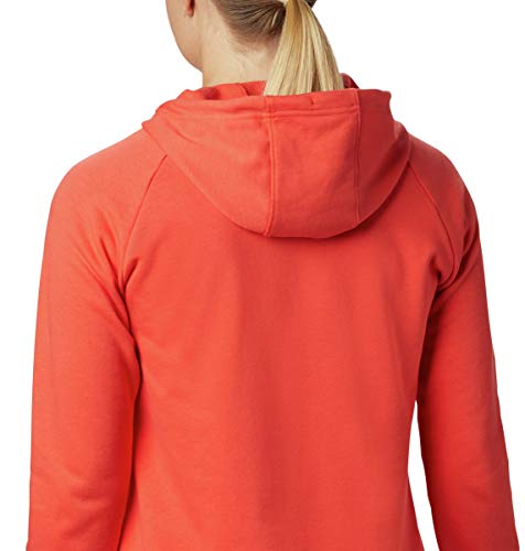 Columbia Women's Logo French Terry Hoodie, Bright Poppy, Large image https://images.buyr.com/CnKbPcZll8iIRqSe6dn46g.jpg1