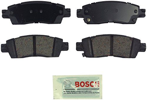 Bosch BE1507 Blue Disc Brake Pad Set for 2011-13 Buick Enclave, 2011-12 Chevrolet Traverse, and 2011-12 GMC Acadia - REAR image 1
