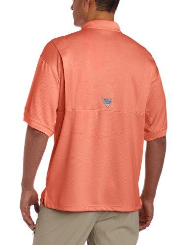 Columbia Men's PFG Perfect Cast Polo Shirt, Breathable, UV Protection, Small, Bright Peach image https://images.buyr.com/DZNjAnrdjYNMjZc8cJ6Ftg.jpg1
