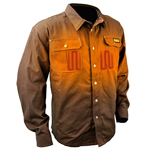 DEWALT DCHJ081 Heated Heavy Duty Shirt Jacket with 2.0Ah Battery and Charger image https://images.buyr.com/GGb2YMd4KDx-zT0aUvYiNA.jpg1