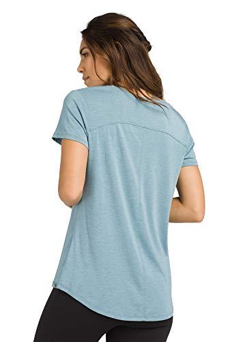prAna Women's Foundation Short Sleeve Vneck, Vintage Blue Heather, Small image https://images.buyr.com/GGieLSRpvRZRyjc49Wx70w.jpg1