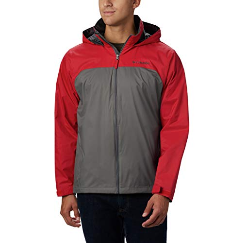 Columbia Men's Big-Tall Glennaker Lake Lined Rain Jacket, Waterproof & Breathable Outerwear, -City Grey/mountain Red, LT image 1