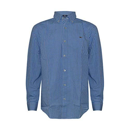 Vineyard Vines Men's Long Sleeve Button Down Whale Shirt Oxford (Large, Thin Stripe/Moonshine) image 1