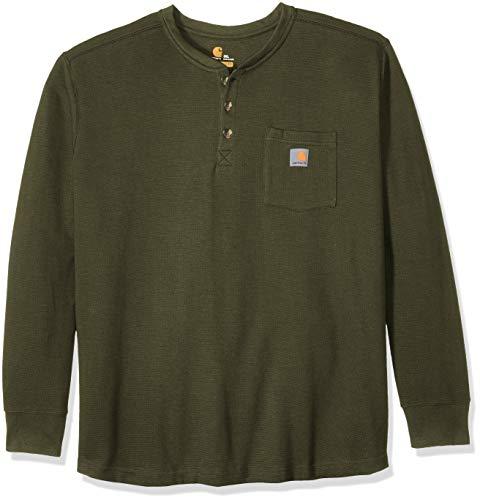 Carhartt Men's Tilden Long Sleeve Henley (Regular and Big & Tall Sizes), Moss, 3X-Large image 1