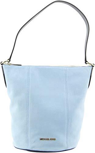 Michael Kors Women's Brooke Medium Suede Shoulder Bag in Light Sky Multi, Style 35T0GOKM8S image 2