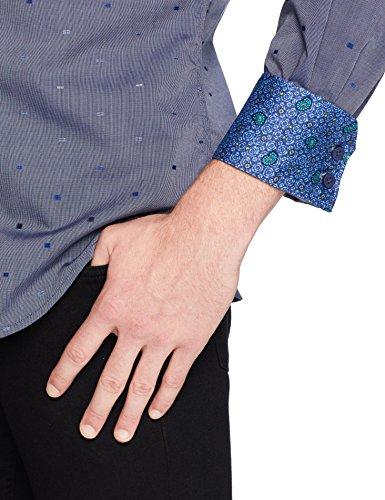 Robert Graham Men's Kerr Long Sleeve Classic FIT Shirt, Navy, Small image https://images.buyr.com/J_ErKQ92LZOi2-uzXkf5dA.jpg1