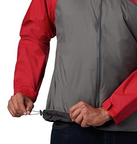 Columbia Men's Big-Tall Glennaker Lake Lined Rain Jacket, Waterproof & Breathable Outerwear, -City Grey/mountain Red, LT image https://images.buyr.com/KSLVtmpou6oHWQqiYMAxWA.jpg1
