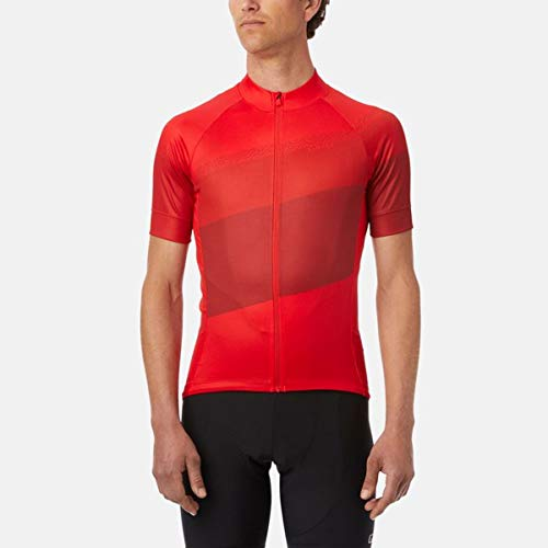 Giro M Chrono Sport Jersey Mens Adult Cycling Jerseys - Bright Red Terrace (2020) - Large image 1