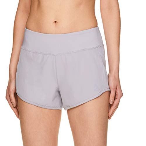 Reebok Women's Athletic Workout Shorts - Gym Training & Running Short - 3 Inch Inseam - Bravo Short Silver Sconce, Large image 1