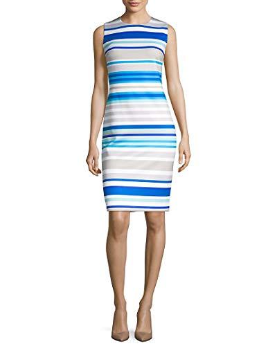 Calvin Klein Women's Sleeveless Round Neck Sheath Dress, Khaki Multi 5, 2 image 1
