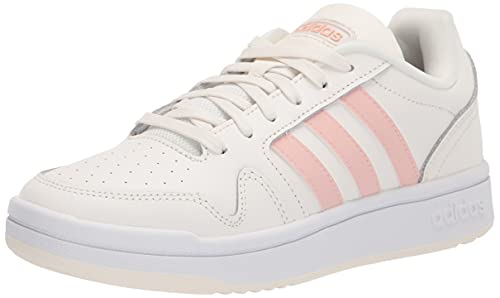 adidas Women's Post Up Basketball Shoe, Cloud White/Vapour Pink/White, 9 image 1
