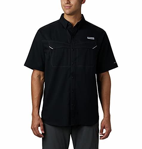 Columbia Men's Low Drag Offshore Short Sleeve Shirt, Black, Large/Tall image 1