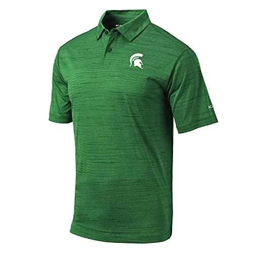 Columbia Golf Omni-Wick Michigan State University Set Polo (Medium) Forest Green image 1