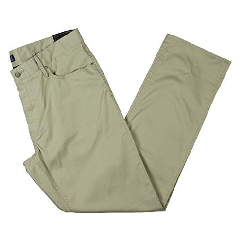Ralph Lauren Mens Straight Fit Prospect Casual Chino Pants, Beige, 40W x 32L image 1