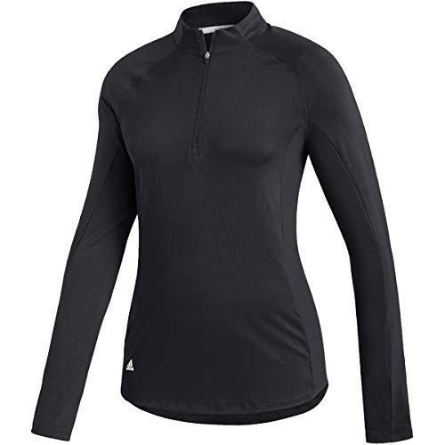 adidas AEROREADY Printed Long Sleeve Polo - Women's Golf XS Black image 1