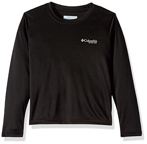 Columbia Youth Boy's Little PFG Silhouette SeriesLong Sleeve Shirt, Black Triangle, Small image 1