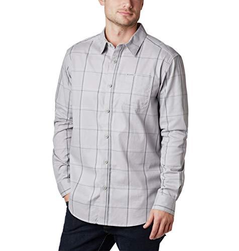 Columbia Men's Tall Size Vapor Ridge III Long Sleeve Shirt, Grey Large Grid, 3XT image 1