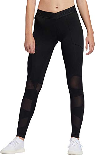 adidas Alphaskin Perforated Tight, Black, Small image 1