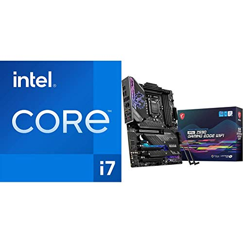 Intel Core i7-11700K Desktop Processor 8 Cores up to 5.0 GHz + MSI MPG Z590 Gaming Edge WiFi Gaming Motherboard image 1