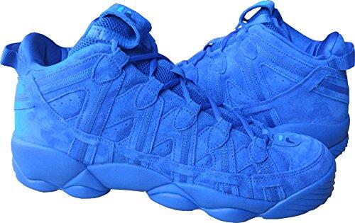 Fila Men's Spaghetti Hightop Basketball Shoes Sneakers (11 D(M) US, Blue/Blue/White) image 1