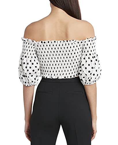 BCBGMAXAZRIA Women's Cropped Top with Off The Shoulder Poof Sleeves, Off White Combo, Small image https://images.buyr.com/OV18L7E_2E71B4AC50E3B4CC50D1480AA3209C80EFB721C7F7ED326E1B21B464E14D0877-IQhIF_Ezh2Db5WZqDtH55Q.jpg1
