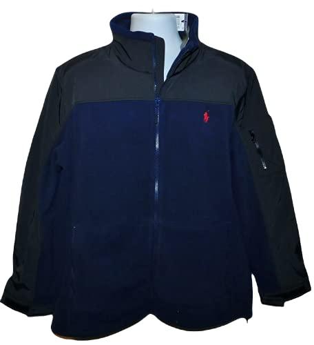 Polo Ralph Lauren Men's Color Block Full Zip Fleece Jacket (X-Large, Navy) image 1