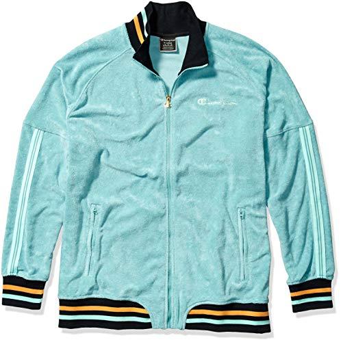 Champion Men's Terry Warm Up Jacket, Eucalyptus Green, Medium image 1