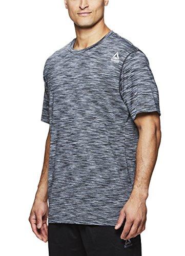 Reebok Men's Supersonic Crewneck Workout T-Shirt Designed with Performance Material - Black Decline Press, Medium image 1