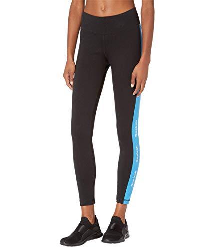 Reebok Training Essentials Linear Logo Leggings, Black/White/Blue, M image 1