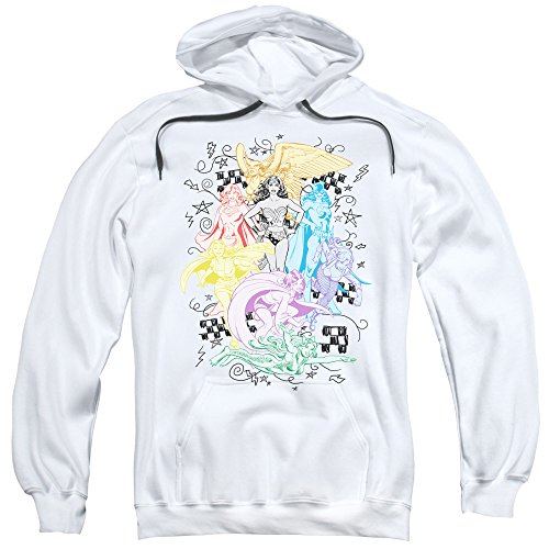 DC - Mens Super Pullover Hoodie, Large, White image 1
