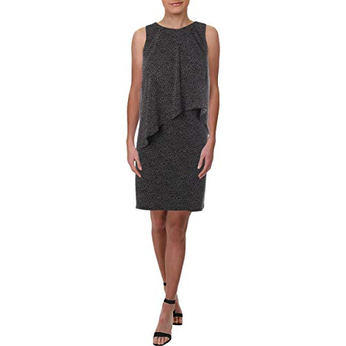 LAUREN RALPH LAUREN Womens A-Line Polka Dot Mini Dress B/W 12P image 1