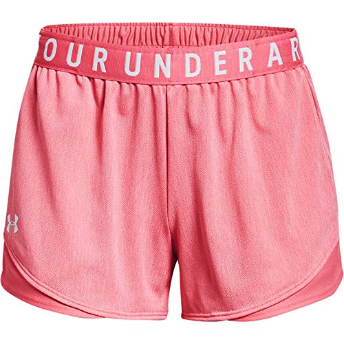 Under Armour Women's Play Up Short 3.0-Twist, Pink Lemonade/White, MD (US 8-10) image 1